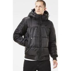 G-Star Raw - Kurtka. Czarne kurtki męskie pikowane marki G-Star RAW, l, z bawełny, retro, z kapturem. Za 899,90 zł.