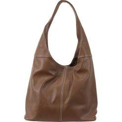 Torebki klasyczne damskie: Skórzana torebka w kolorze brązowym – 34 x 55 x 16 cm