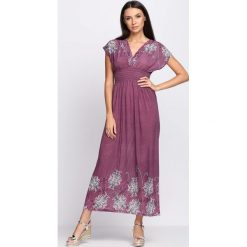 Sukienki hiszpanki: Fioletowa Sukienka Cold Coffee