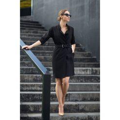 Sukienka żakietowa z paskiem s120. Czarne sukienki balowe marki Style, s, w paski, mini. Za 159,00 zł.