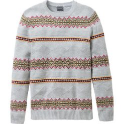 Sweter Regular Fit bonprix jasnoszary melanż. Szare swetry klasyczne męskie marki bonprix, l, melanż, ze splotem. Za 49,99 zł.