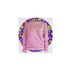 Bluzy rozpinane damskie: Bluza Fullprint Kropki Małe Damska