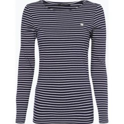Marc O'Polo - Damska koszulka z długim rękawem, niebieski. Niebieskie t-shirty damskie Marc O'Polo, l, w paski, z bawełny, polo. Za 179,95 zł.