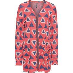 Bluza bez zapięcia bonprix kolorowy wzorzysty. Niebieskie bluzy damskie bonprix, w kolorowe wzory. Za 89,99 zł.