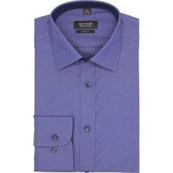 Koszula bexley 2570 długi rękaw slim fit granatowy. Niebieskie koszule męskie slim Recman, m, z długim rękawem. Za 159,00 zł.