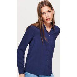 Gładka koszula - Granatowy. Niebieskie koszule damskie marki Cropp, l. Za 49,99 zł.