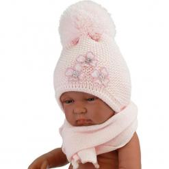 Czapka niemowlęca z szalikiem CZ+S 004B. Szare czapeczki niemowlęce Proman. Za 40,78 zł.