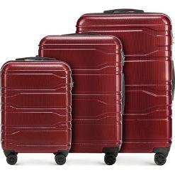 Zestaw walizek 56-3P-98S-30. Czerwone walizki marki Wittchen, z gumy, duże. Za 778,41 zł.