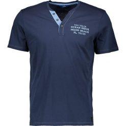 """T-shirty męskie: Koszulka """"Henley"""" w kolorze granatowym"""