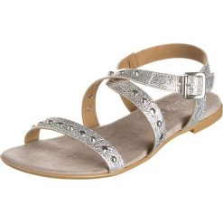 Rzymianki damskie: Sandały w kolorze srebrno-szarobrązowym