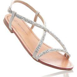 Sandały bonprix srebrny. Szare sandały damskie marki bonprix, w paski. Za 59,99 zł.