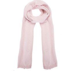 Apaszki damskie: Różowy szal ze strukturalnym splotem QUIOSQUE