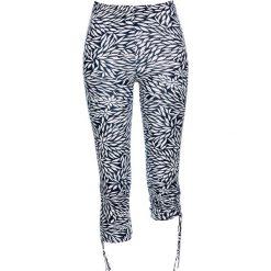 Legginsy bonprix ciemnoniebiesko-biały. Niebieskie legginsy we wzory bonprix. Za 29,99 zł.