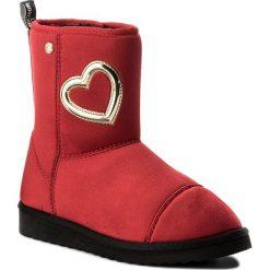 Buty LOVE MOSCHINO - JA24163H04JA0500  Rosso. Szare botki damskie skórzane marki Love Moschino. W wyprzedaży za 419,00 zł.