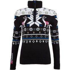 """Sweter """"Arvid"""" w kolorze czarno-białym. Białe swetry klasyczne damskie marki Nebulus, xl, z dzianiny, ze stójką. W wyprzedaży za 172,95 zł."""