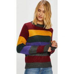 Only - Sweter Dina. Brązowe swetry klasyczne damskie ONLY, l, z dzianiny, z okrągłym kołnierzem. Za 169,90 zł.