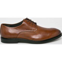 Strellson - Półbuty. Brązowe buty wizytowe męskie Strellson, z materiału, z okrągłym noskiem, na sznurówki. W wyprzedaży za 369,90 zł.