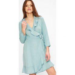 Vero Moda - Sukienka Rocky. Niebieskie sukienki mini marki Vero Moda, z bawełny. W wyprzedaży za 99,90 zł.