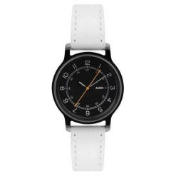 Zegarek l'orologio damski ze skórzanym paskiem i czarną tarczą. Czarne zegarki damskie Alessi, ze stali. Za 645,00 zł.