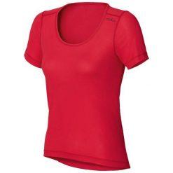 Odlo Koszulka tech. Odlo Shirt s/s crew neck CUBIC TREND - 140481 - 140481L. Czerwone topy sportowe damskie marki Odlo, l. Za 149,95 zł.