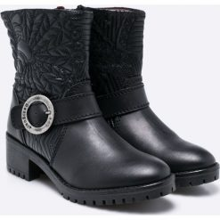 Desigual - Botki Breaker Lottie. Czarne buty zimowe damskie Desigual, z materiału. W wyprzedaży za 239,90 zł.
