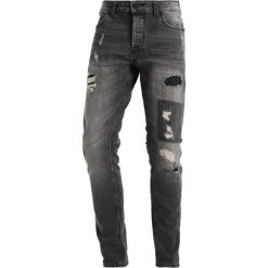 Only & Sons ONSLOOM DESTROY PATCH Jeansy Slim Fit dark grey denim. Brązowe jeansy męskie relaxed fit marki Only & Sons, l, z poliesteru. W wyprzedaży za 199,20 zł.