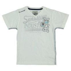 T-shirty chłopięce z nadrukiem: Koszulka w kolorze kremowym