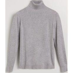 Sweter z golfem - Jasny szar. Szare golfy damskie Reserved, m. Za 119,99 zł.