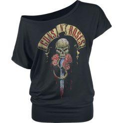 Guns N' Roses Dripping Dagger Koszulka damska czarny. Czarne bluzki na imprezę marki Molly.pl, l, w jednolite wzory, z tkaniny, wizytowe, z dekoltem na plecach, z krótkim rękawem. Za 99,90 zł.