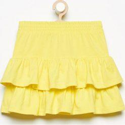 Spódniczki dziewczęce z falbankami: Spódnica z falbanami - Żółty