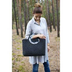 Duża Torebka - Minimalistyczna grafitowa - plexi. Szare torebki klasyczne damskie Pakamera, duże. Za 139,00 zł.
