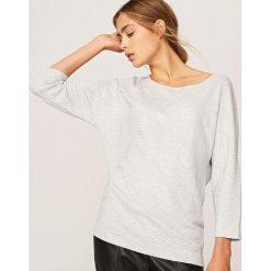 Swetry klasyczne damskie: Sweter nietoperz – Szary