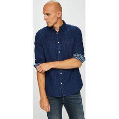 Wrangler - Koszula. Niebieskie koszule męskie na spinki Wrangler, m, z bawełny, z klasycznym kołnierzykiem, z długim rękawem. Za 239,90 zł.