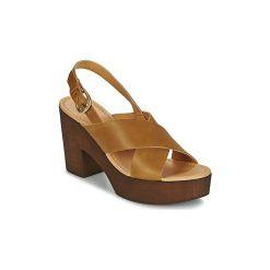 Sandały Vero Moda  VMFLICA LEATHER SANDAL. Brązowe sandały damskie Vero Moda. Za 247,20 zł.