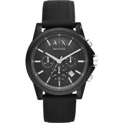 Armani Exchange - Zegarek AX1326. Czarne zegarki męskie marki Armani Exchange, l, z materiału, z kapturem. Za 699,90 zł.