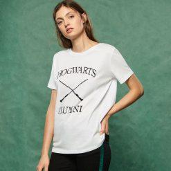 T-shirt Harry Potter - Biały. Białe t-shirty damskie Sinsay, l. Za 29,99 zł.