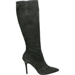 Kozaki - 1945 CAM GRIG. Czarne buty zimowe damskie Venezia, ze skóry. Za 529,00 zł.