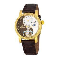 """Zegarki męskie: Zegarek """"High Point' w kolorze brązowo-złoto-białym"""