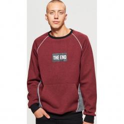 Bluza z napisem - Bordowy. Czerwone bluzy męskie rozpinane marki KALENJI, m, z elastanu, z długim rękawem, długie. Za 99,99 zł.
