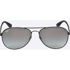 Ray-Ban - Okulary RB3549. Szare okulary przeciwsłoneczne męskie aviatory marki Ray-Ban, z materiału. Za 699,90 zł.