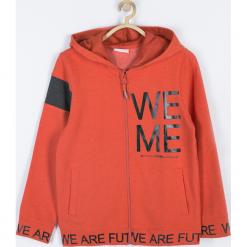 BLUZA. Brązowe bluzy chłopięce rozpinane FUTURE, z aplikacjami, z bawełny, z długim rękawem, długie, z kapturem. Za 99,90 zł.