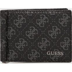 Guess Jeans - Portfel skórzany. Czarne portfele męskie Guess Jeans, z aplikacjami, z jeansu. Za 229,90 zł.