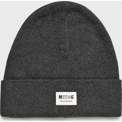 Mustang - Czapka. Czarne czapki zimowe męskie Mustang. W wyprzedaży za 49,90 zł.