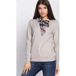Swetry damskie: Khaki Sweter Messy