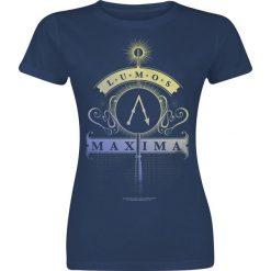 Bluzki asymetryczne: Harry Potter Lumos Maxima Koszulka damska granatowy
