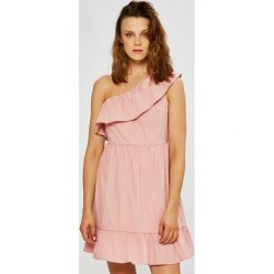 Vero Moda - Sukienka. Różowe sukienki mini marki Vero Moda, na co dzień, l, z bawełny, casualowe, proste. W wyprzedaży za 89,90 zł.