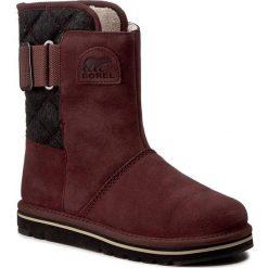 Buty SOREL - Newbie NL2068 Redwood/Black 628. Czerwone buty zimowe damskie Sorel, z gumy. W wyprzedaży za 259,00 zł.