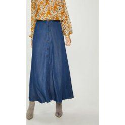 Answear - Spódnica Heritage. Szare spódniczki ANSWEAR, l, z materiału, midi, proste. Za 149,90 zł.