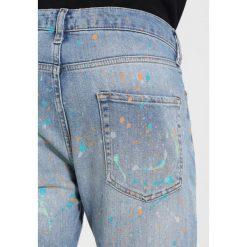 Topman PAINT RIP Jeans Skinny Fit blue. Niebieskie jeansy męskie Topman. W wyprzedaży za 224,10 zł.