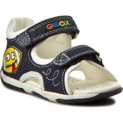 Sandały GEOX - B San. Taupz B.B B720XB 01085 C4211 Morski/Biały. Niebieskie sandały męskie skórzane Geox. W wyprzedaży za 169,00 zł.